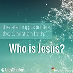 "Awesome article by #AndyStanley! ""The Christian faith isn't about what Jesus said before He died. It's about what happened after He died: He rose from the dead."" AMEN!"