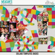 Collage Templates: Basics by Meagan's Creations