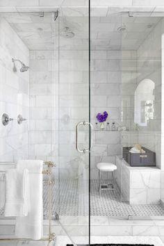 1921e51985 Master bath Inso Mark Williams Design - basketweave tiles floor