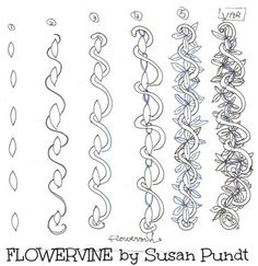 zentangle flower patterns step by step - Google Search