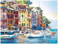 Rose Edin Watercolor | Watercolor... Italian Riviera...