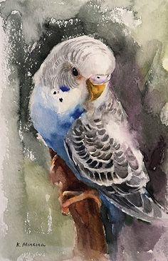 Daily Paintworks - - Original Fine Art for Sale - © Katya Minkina Art Watercolor, Watercolor Animals, Bird Drawings, Animal Drawings, Afrique Art, Wildlife Art, Animal Paintings, Bird Paintings, Bird Art