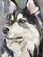 "Daily Paintworks - ""Ice Dog"" - Original Fine Art for Sale - © Gigi ."