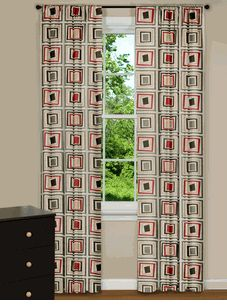 Retro Curtains - Modern Window Curtains - Mid-Century Modern - Contemporary Panels, Drapes, Sheers