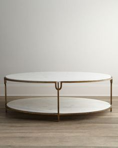 "Global Views ""Olivia"" Marble-Top Coffee Table"