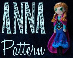 (4) Name: 'Crocheting : Anna (Frozen) Amigurumi Crochet Pattern