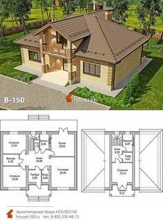 Small House Floor Plans, Modern House Plans, Villa, Cabin, House Design, Flooring, How To Plan, House Styles, Interior