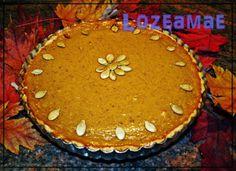 Tarta de calabaza típica de acción de gracias. http://lozeamae.blogspot.com.es/2013/12/pumpkin-pie-para-la-cena-de-accion-de.html
