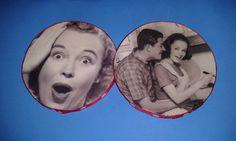 handmade coasters my favorite gals by HomespunPinup on Etsy, $4.75