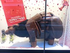 Bear display Peter Jones London December 13