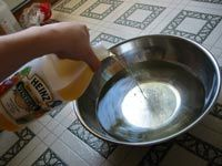 How to Clean Linoleum, thank goodness this worked! cleaned up years of the previous owners hairspray residue off the bathroom floor! i was about to cover the whole floor because i could not get it clean!