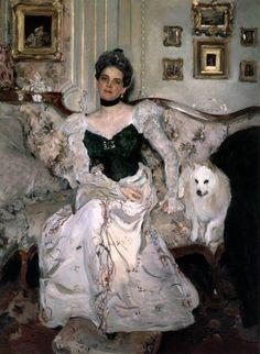 "FCBTC / 1902 - ""Portrait of Princess Yusupova"" by SEROV, Valentin (1865-1911). Oil on canvas. State Russian Museum, St. Petersburg, Russia."