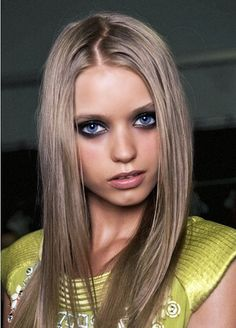 love to have my hair this color. looks super pretty with blue eyes.
