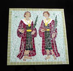 Cosme e Damião #cosmedamiao #mosaico #mosaic