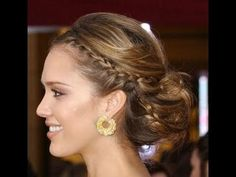 The first half of this hairdo is actually exactly what you want, I think, just maybe thicker braids?