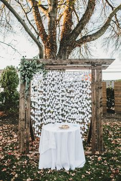 Rustic ceremony backdrop // Nashville Wedding Flowers