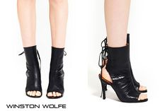 Brand Black Leather Cut Out Lace Up Summer Ankle Boots Heels Open Toe.jpg (800×533)