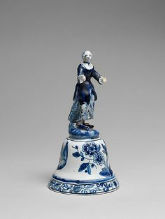 1770 Dutch Handbell at the Metropolitan Museum of Art, New York - What's interesting about this piece, in my opinion, is that it is made out of the iconic blue-and-white Delft porcelain.