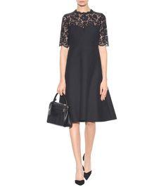Valentino - Lace-panelled dress | mytheresa.com