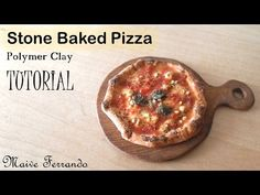 Miniature Polymer Clay Stone Baked Margherita Pizza TUTORIAL - YouTube