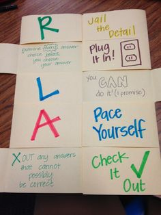 Test Taking Strategies Foldable