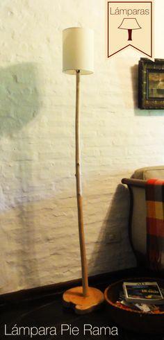 Lámpara Pie Rama: Si tenés que iluminar lugares amplios, es la lámpara ideal.