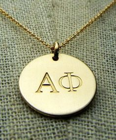 Alpha Phi Gold Charm Necklace