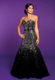 Prom Dresses 2013 - Sequin Tulle Trumpet Dress from Camille La Vie and Group USA