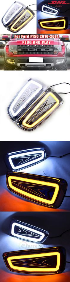 Motors Parts And Accessories: 2X Led Drl Daytime Running Light Turn Signal Lamp For Ford Raptor F150 2010-2014 BUY IT NOW ONLY: $165.99
