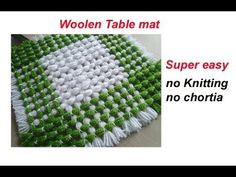 make awesome table mat,door mat,tv,laptop,dish tv cover (without crochet and salai) Crochet Braids, Boho Crochet, Crochet Doily Rug, Crochet Winter, Weaving Patterns, Knitting Patterns, Crochet Patterns, Crochet Symbols, Plastic Canvas Stitches