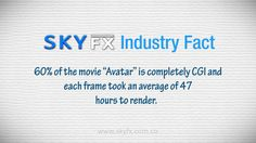 Another cool @SkyFXSAS Industry Fact to share! #avatar