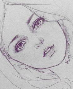 Anime Drawings Sketches, Dark Art Drawings, Pencil Art Drawings, Realistic Drawings, Anime Character Drawing, Manga Drawing, Inspiration Art, Anime Art Girl, Art Tutorials
