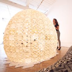 Pavilion made of 3D-printed salt by Emerging Objects