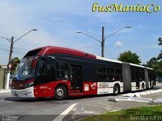 Ônibus da empresa Viação Campo Belo, carro 7 2083, carroceria CAIO Millennium BRT, chassi Volvo B360S. Foto na cidade de São Paulo-SP por busManíaCo, publicada em 30/03/2014 09:10:18.