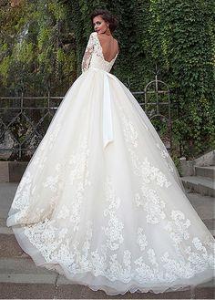 milla nova 2016 bridal wedding dresses / www. milla nova 2016 bridal wedding dresses / www. Mila Nova Wedding Dress, Bridal Wedding Dresses, Dream Wedding Dresses, Wedding Attire, Poofy Wedding Dress, Tulle Wedding, 2017 Bridal, Modest Wedding, Casual Wedding