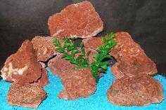 Aquarium Rock Decor Natural Orange Lava by ThirdPlanetTreasures