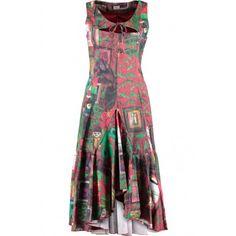 84a121349a4832 Kreta dress Referentie  HH012.CPM2.I Mouwloze zwierige lange jurk met extra  accent aan de bovenzijde.