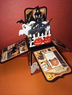 Card in a Box Halloween using Silhouette cut files except for the witch. That is…