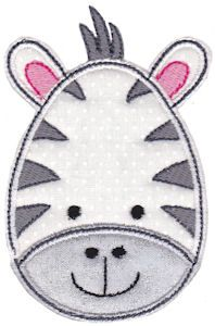 Cute Animal Faces Applique