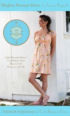 Meghan Peasant Dress  ~ Sis Boom PDF Sewing Pattern