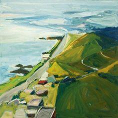 "urgetocreate: "" Paul Wonner, View from South Laguna, "" Richard Diebenkorn, Wayne Thiebaud, Abstract Landscape, Landscape Paintings, Bay Area Figurative Movement, Landscape Photography, Art Photography, California Art, Guache"