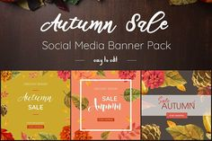 Autumn Sale Banners Pack by Lola Design™ on @creativemarket