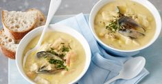 A chowder is a stew or thickened soup. It can be served as a meal on it's own or as a starter. It is especially good when mopped up with crusty bread.