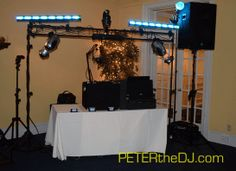Set-up in the main ballroom at Bellevue Country Club in #Syracuse for Diane and Greg's reception. June 2015.
