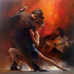 Tango Argentino III Canvas Art - Willem Haenraets x Arte Latina, Tango Art, Tango Dancers, Dance Paintings, Painting Art, Watercolor Painting, Danse Macabre, Love Art, Amazing Art