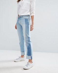 Hilfiger Denim Contrast Panel Straight Leg Jean