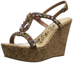 Naughty Monkey Women's Chasing Rainbows Wedge Sandal *** Find out more details by clicking the image : Wedge sandals