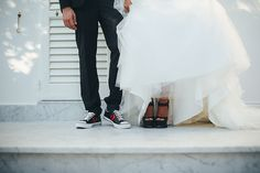Contemporary Wedding Black & white Dress Groom Bride www.weddinglam.it
