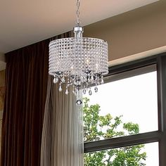 Carina 4-Light Chrome Finish Crystal Chandelier - Free Shipping Today - Overstock.com - 18050455 - Mobile