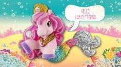 "Glitterina says ""hi"" to you Say Hi, Mermaids, Minnie Mouse, Disney Characters, Fictional Characters, Dinosaur Stuffed Animal, Toys, Animals, Art"